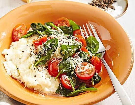 Claras con verduras