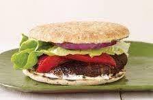 Hamburguesa en pan thin