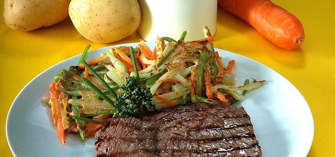 Bistec con verduras