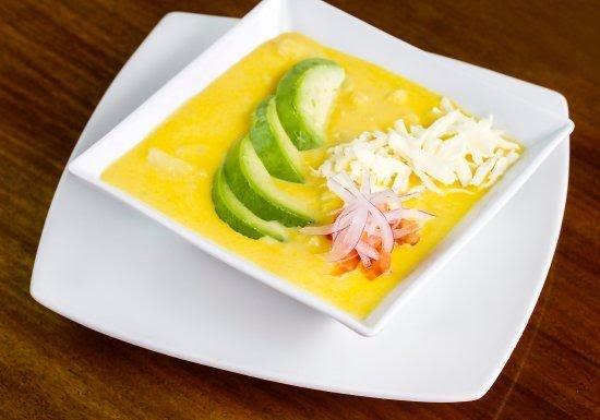 Sopa de papa con queso