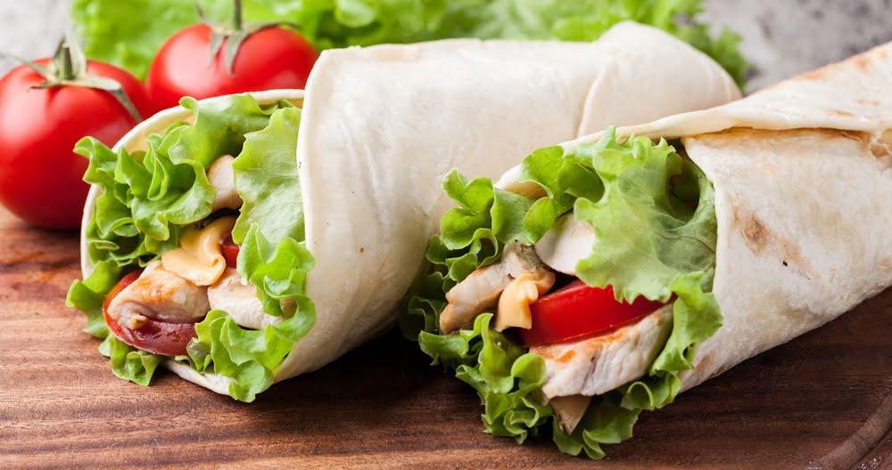 Wrap de panela y vegetales
