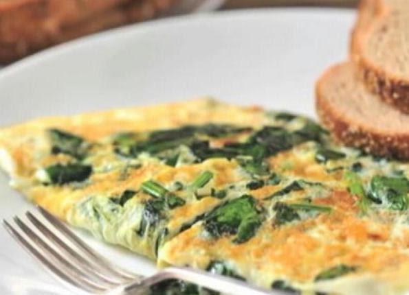 Omelette de espinaca y nopal