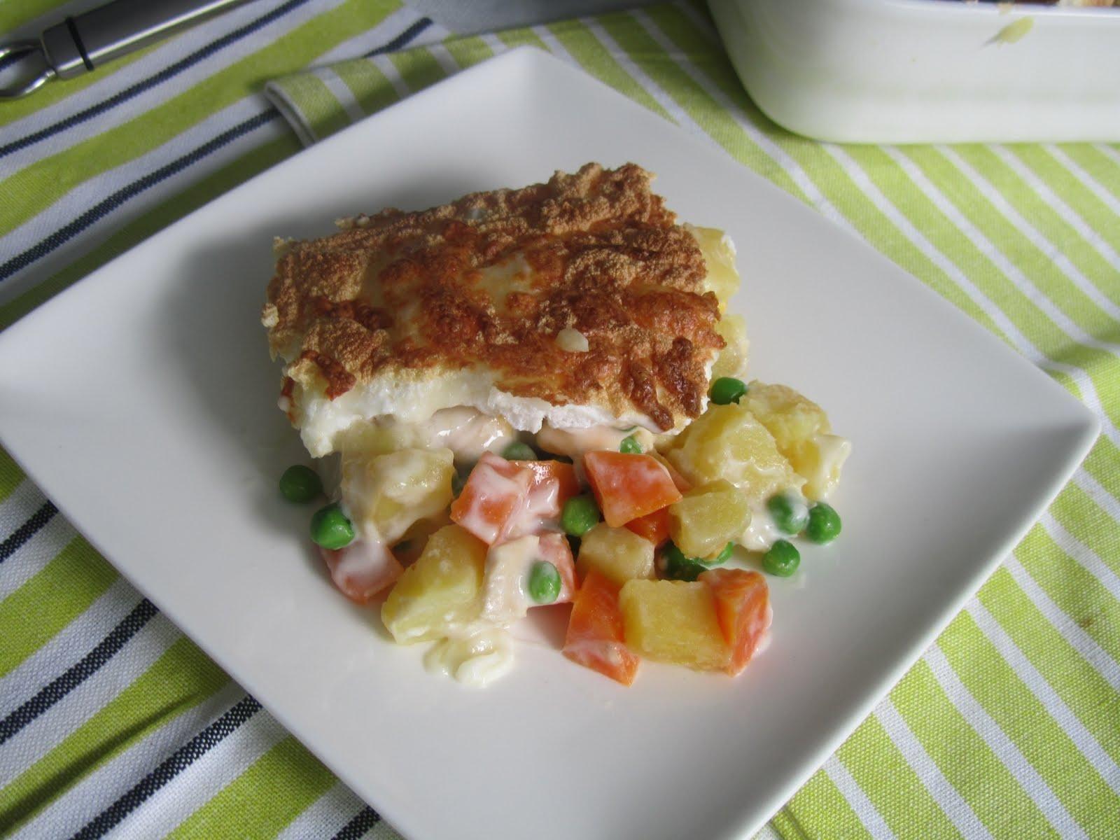 Chuleta de cerdo con ensalada rusa