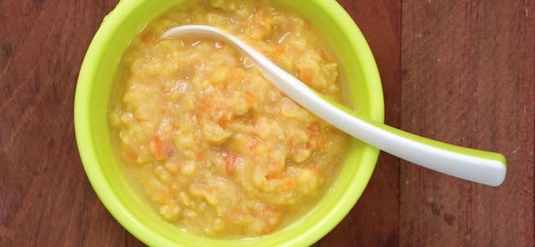 Sopa con garbanzos y pollo