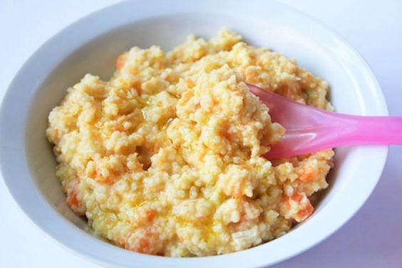 Pollo con arroz, zanahoria y aguacate