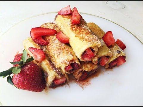 Rollito de mermelada de fresa con chocolate sin azúcar