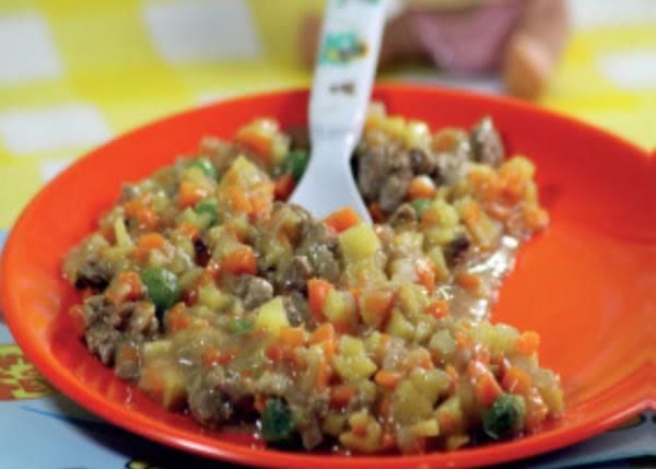 Lomo en salsa con verduras