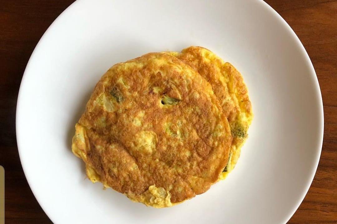 Tortitas de huevo con espinacas