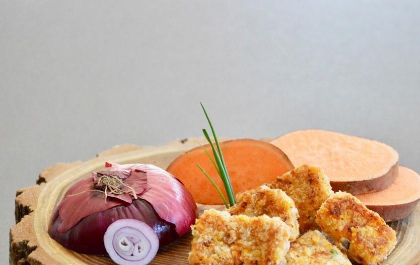 Nuggets de pescado con camote