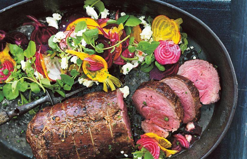 Roastbeef con ensalada invernal