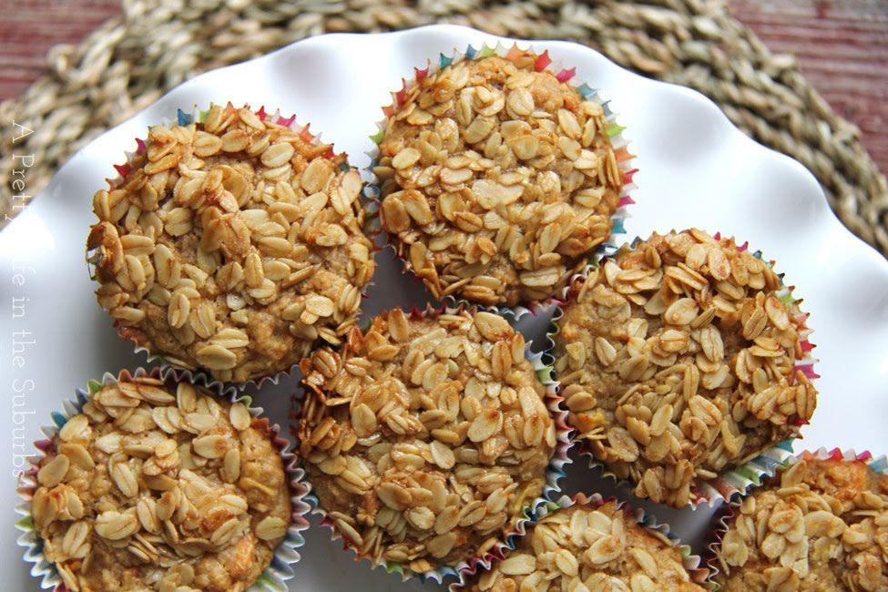 Muffins de avena con zanahoria
