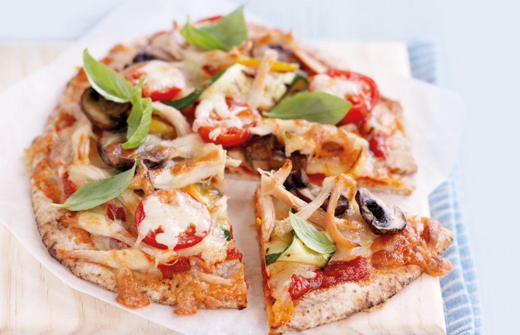 Pita pizza de vegetales