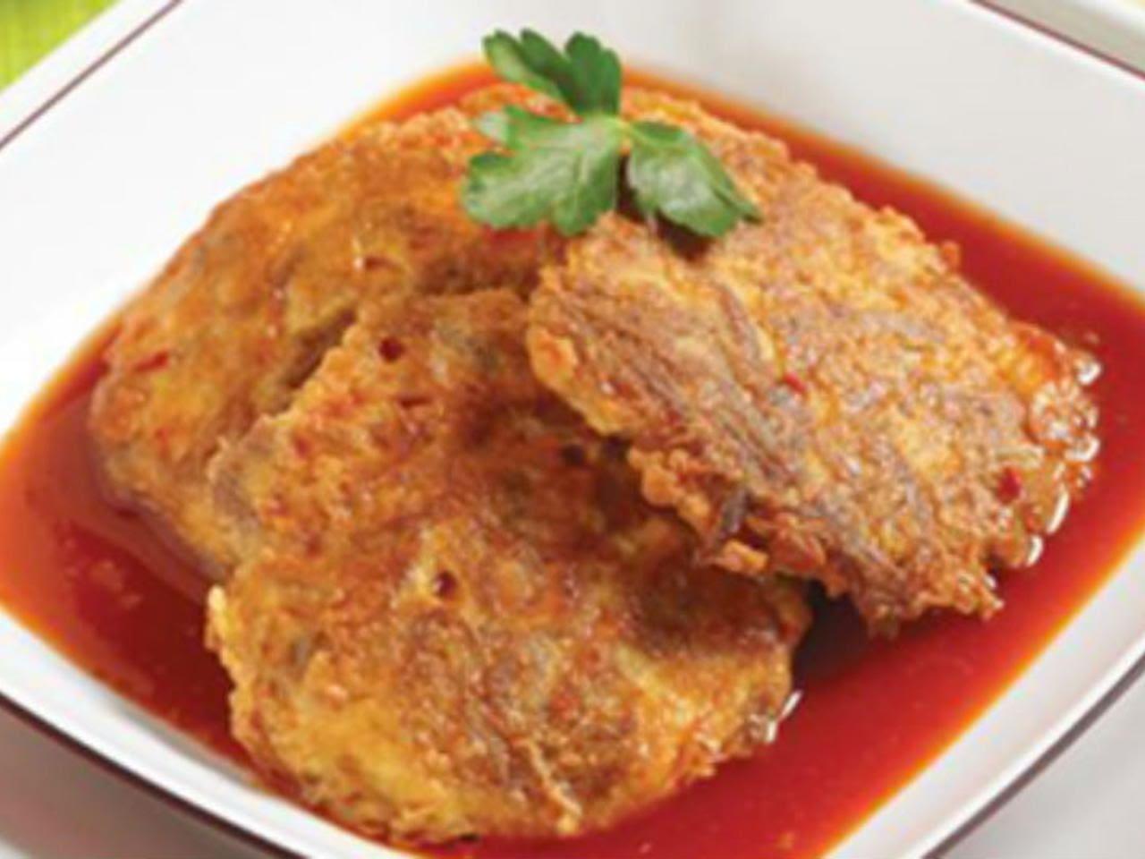 Tortitas de carne con caldillo