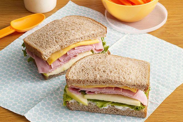Sándwich de pechuga de pavo y queso