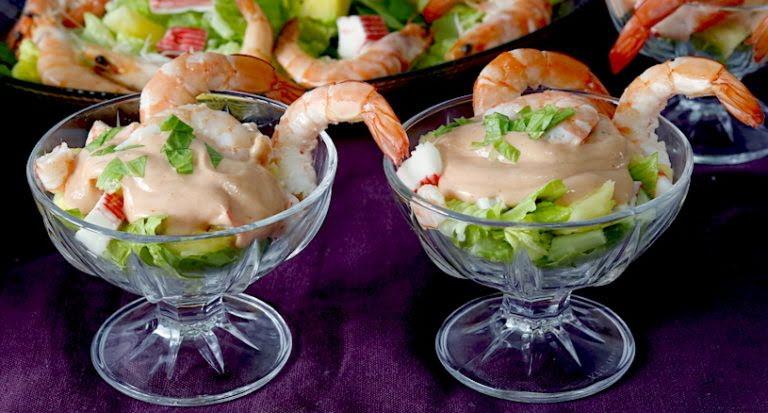 Coctel de camarón con surimi