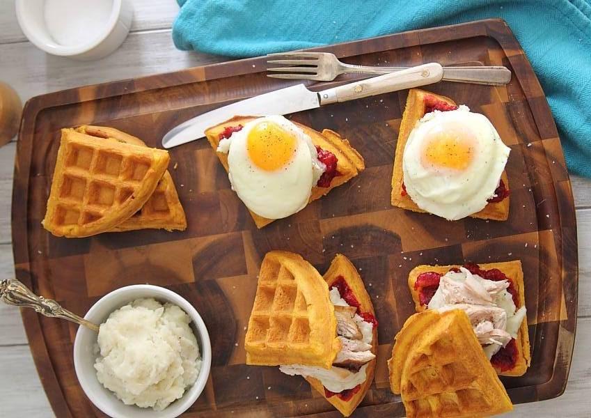 Sándwich de waffles