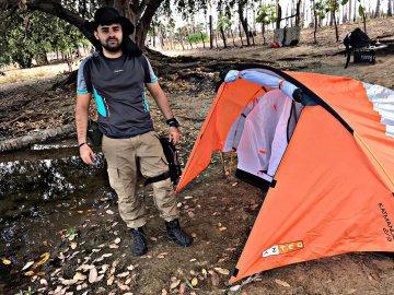 Dia de acampamento e bushcraft