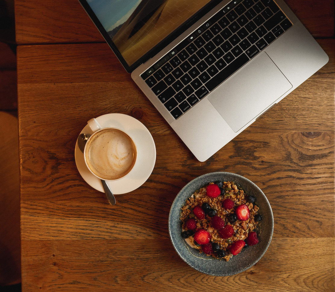 Make time to eat a balanced diet to stay healthy working Anywhere