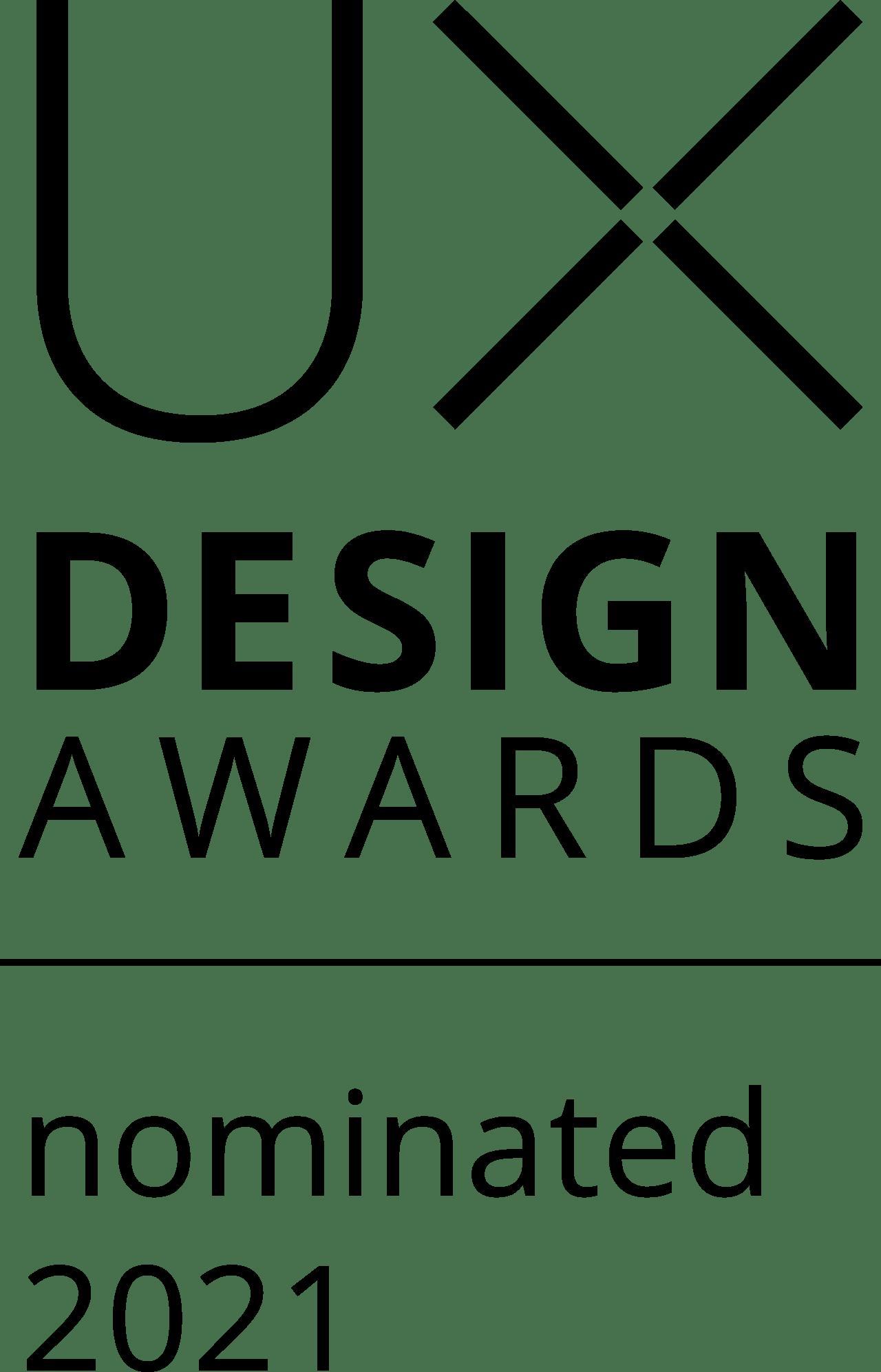 UX Design Award – Nominated 2021