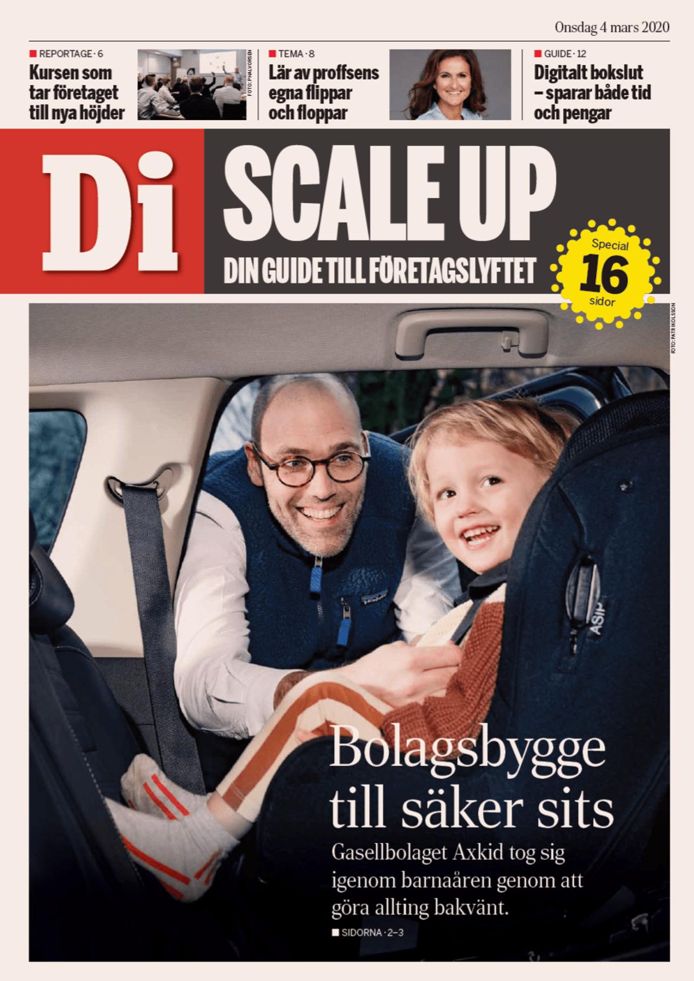 Dagens industri Cover Daniel Johanson