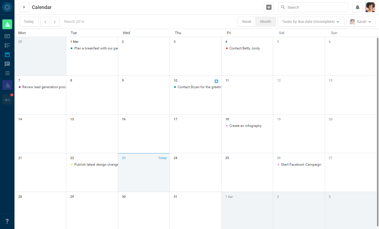 You can view personal, team and Subject calendars