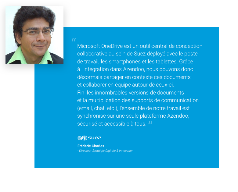 Frédéric Charles - Directeur Stratégie Digitale & Innovation de l'entité SUEZ Smart Solutions