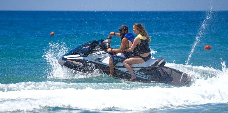 Two people on Jet Ski Corfu