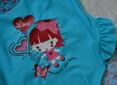 """Детский цельный купальник для девочки """"Scarlet"""" голубой (р.104, 110, 116 см) (KEYZI, Польша)"""
