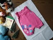 Летний розовый боди с красивой аппликацией на Рост 80см