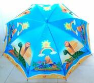 Детский зонт трость дино