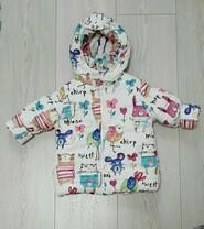 Детская куртка демисезонная размер 68-74 б/у