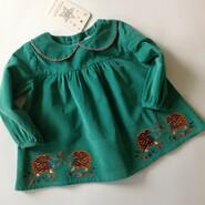 Симпатичная блуза с вышитыми ежиками