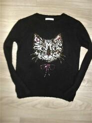 Теплый вязаный свитер на 11-12лет рост 152