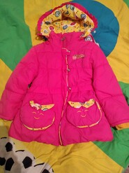 Яскрава куртка осень- зима на 4-5 рочк.