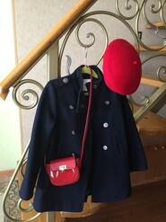 Пальто сумка клатч берет