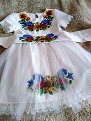 плаття вишите  чеським бісером