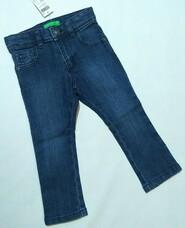 Синие джинсы Benetton для девочки р. 2 года