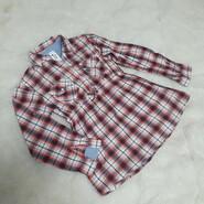 Рубашка туника на девочку блузка удлиненная кофта в клетку