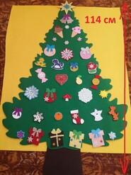 Елочка из фетра. Фетровая елка на стену. Развивающая игрушка для детей.