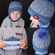 Утеплённая детская шапка, Зима