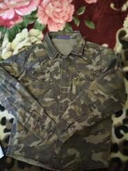 Рубашка хаки 140