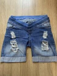 Джинсовые шорты для беременных ToBe