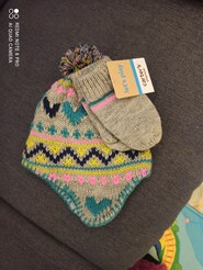 Комплект : шапка і рукавички