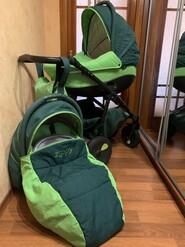 Зелено/салатовая коляска zippy !