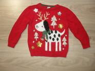 Хлопковый свитер на 18-24мес рост 92