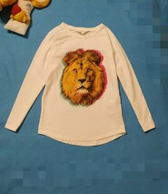 Царь зверей. Красивая Трикотажная блузочка на 5-6 лет