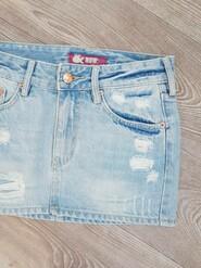 Фирменная джинсовая юбка рванка на девочку 128-134-140 см, H&M