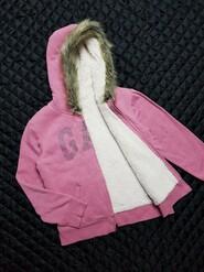 Тёплая пайта худи кофта толстовка с капюшоном на девочку 134-140 см, GAP
