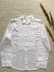Белая рубашка для мальчика нарядная натуральная