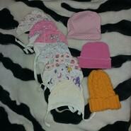 Набір шапочок для дівчинки від 0 до 3 місяців